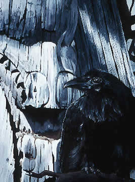 Raven<br>Painting by Karel Doruyter